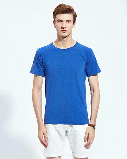 蓝色广告衫